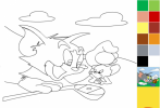 Game Tô Màu Tôm Và Jerry