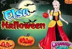 Game Elsa đón Halloween