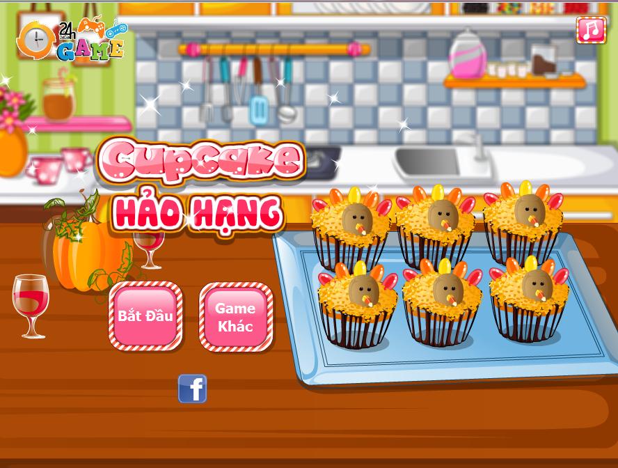 Game Làm bánh cupcake hảo hạng