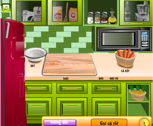 game làm bánh cà rốt