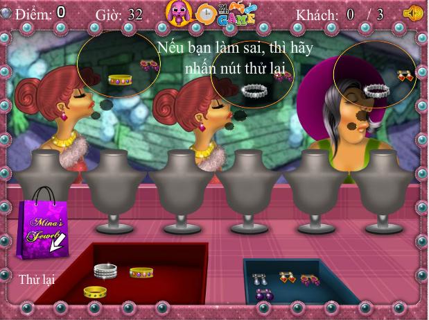 choi game cửa hàng nữ trang