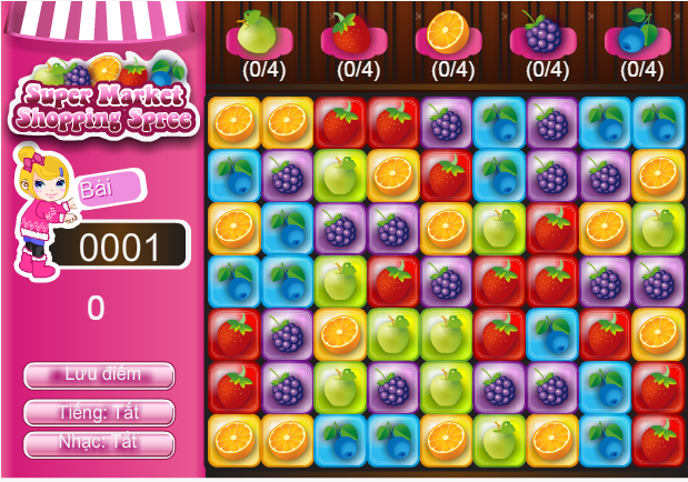 game siêu thị trái cây
