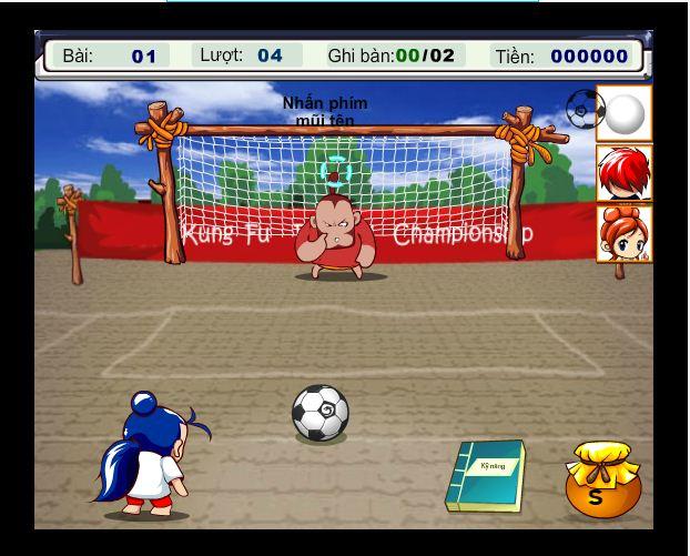 chơi game kungfu bóng đá