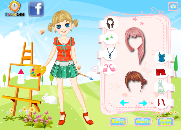 game thời trang họa sĩ