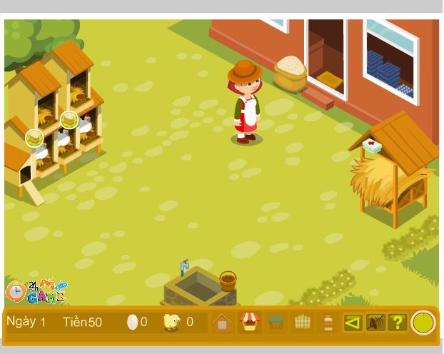 game trang trại nuôi gà
