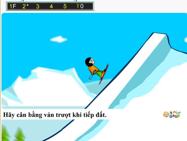 choi game trượt tuyết biểu diễn