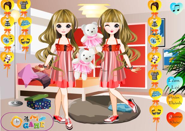 game thời trang cho bé song sinh