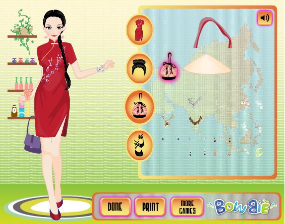 choi game trang phục truyền thống châu Á