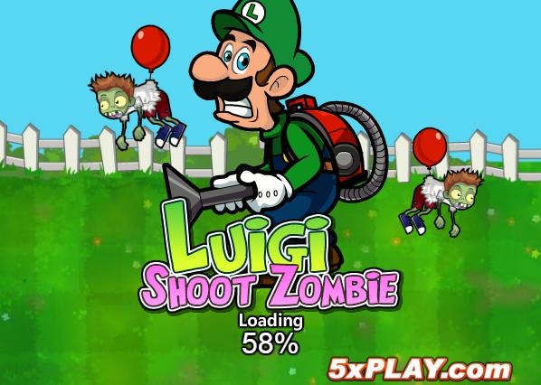 Luigi bắn zombie