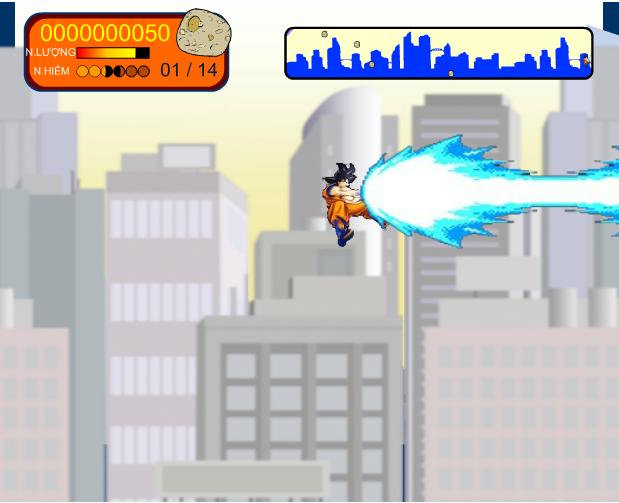 chơi game Goku bảo vệ trái đất
