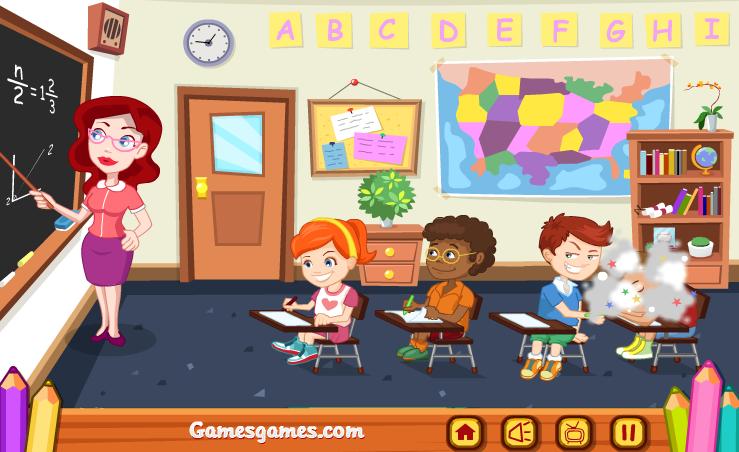 chơi game trò đùa trong lớp học