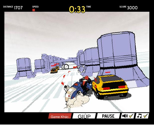 chơi game đua xe bắn súng