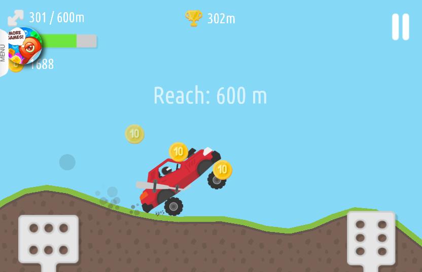 chơi game đua xe trên đồi