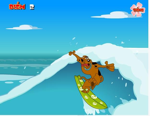 chơi game ScoobyDoo lướt ván