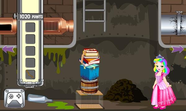 game công chúa Juliet thoát khỏi ống cống