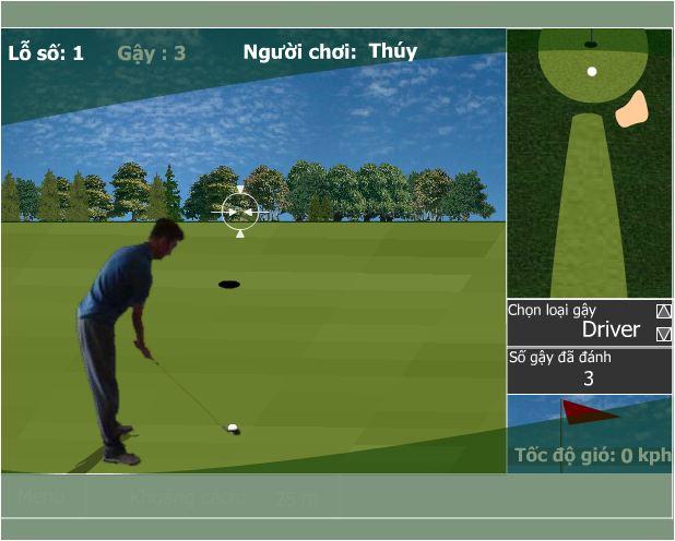 chơi game tập chơi golf
