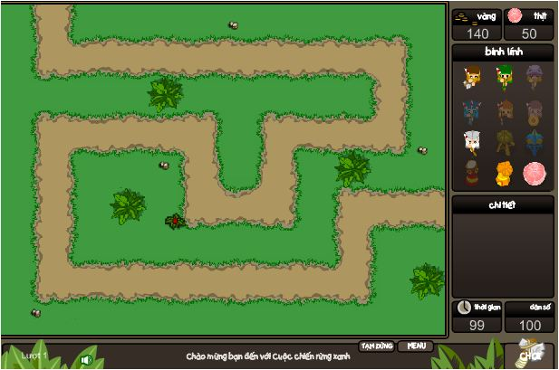 game cuộc chiến rừng xanh