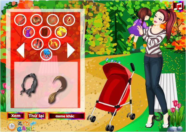 game thời trang mẹ và bé