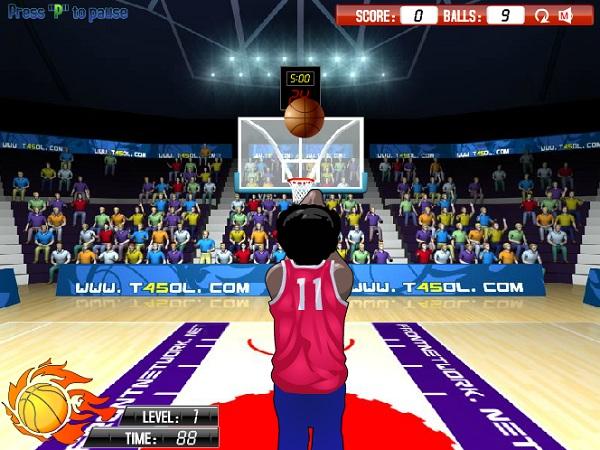 chơi game bóng rổ NBA
