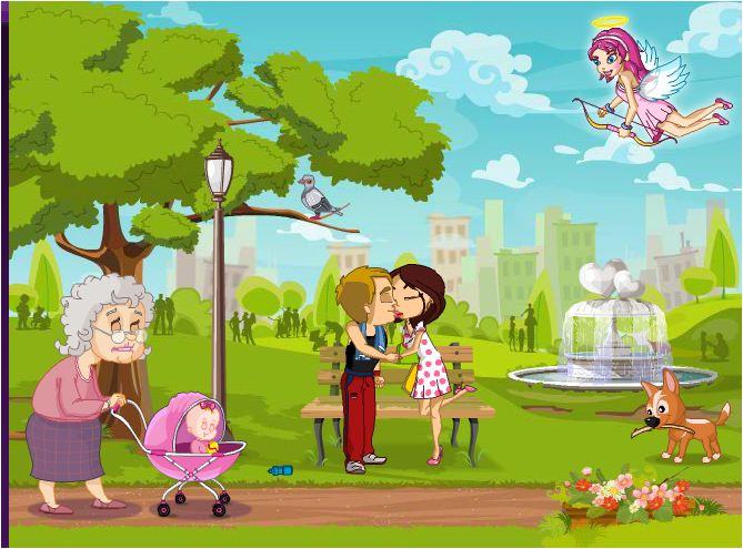 hẹn hò trong công viên