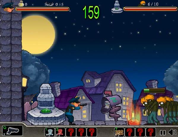 chơi game cảnh sát bắn zombie