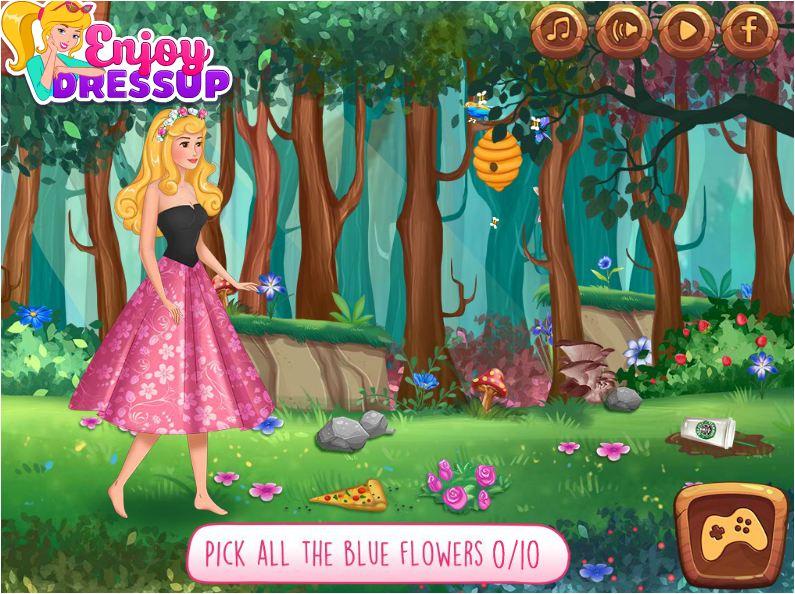 chơi game câu chuyện công chúa ngủ trong rừng