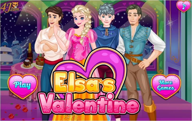 chơi game Valentine của Elsa
