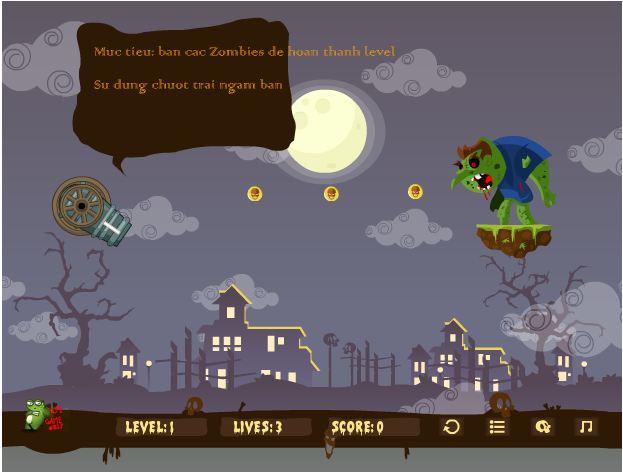 game bắn zombie
