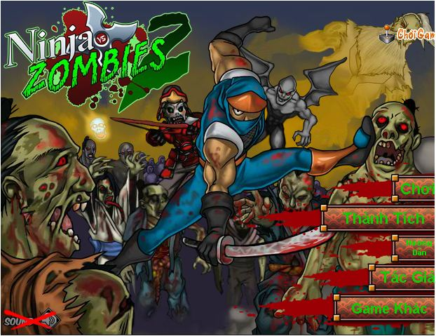 chơi game Ninja diệt Zombie