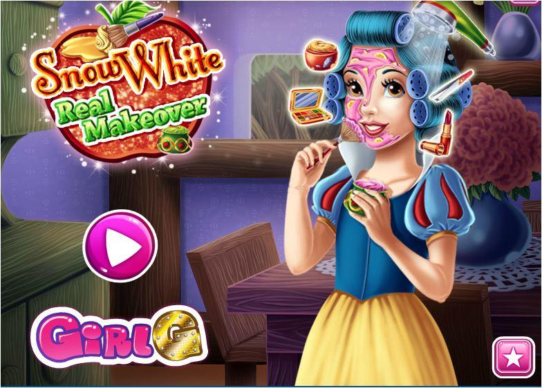 chơi game trang điểm công chúa bạch tuyết