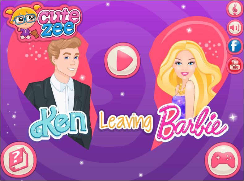 chơi game Barbie chia tay Ken