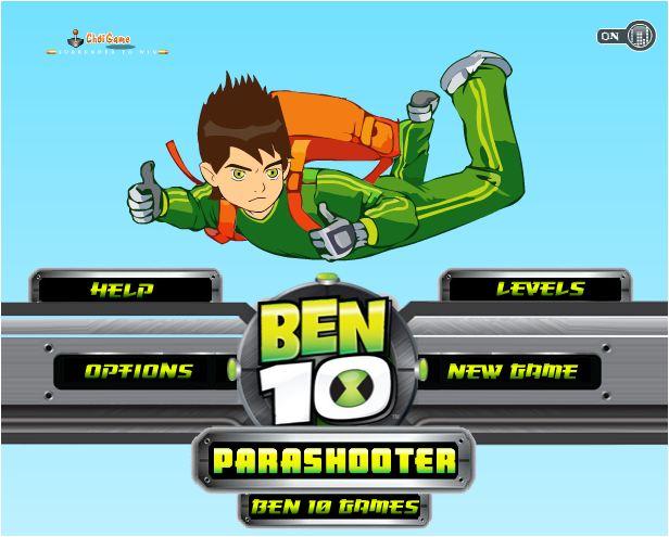 chơi game Ben 10 nhảy dù