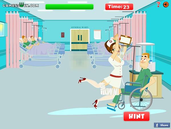 chọc phá cô y tá
