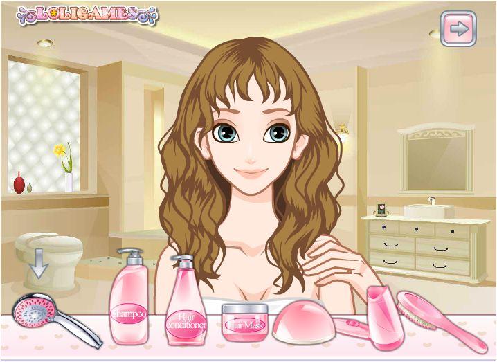 game trang điểm và làm tóc cho cô dâu