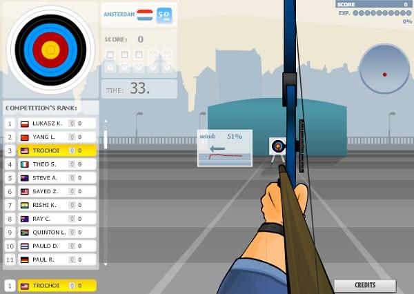chơi game vô địch bắn cung 2