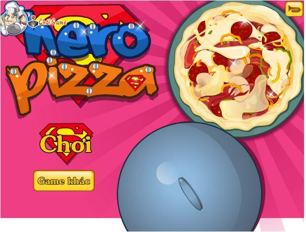 chơi game bánh pizza cho anh hùng