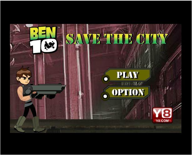chơi game Ben 10 phiêu lưu thành phố