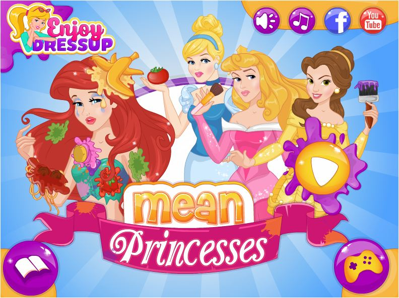 chơi game công chúa Disney xấu tính