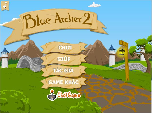 chơi game cung thủ màu xanh
