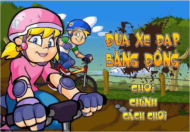 chơi game xe đạp băng đồng