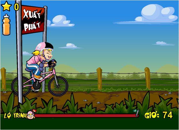 game xe đạp băng đồng