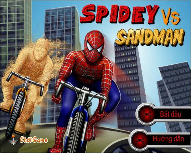 chơi game người nhện và người cát đua xe