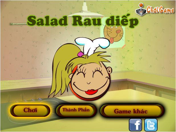 chơi game salad rau diếp