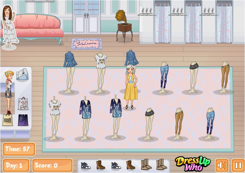 game bán hàng quần áo