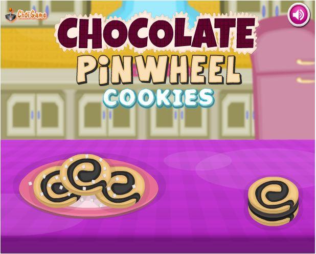 chơi game bánh socola chong chóng