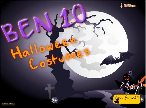 chơi game Ben 10 thời trang hallowen