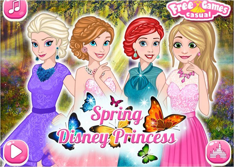 chơi game công chúa mùa xuân