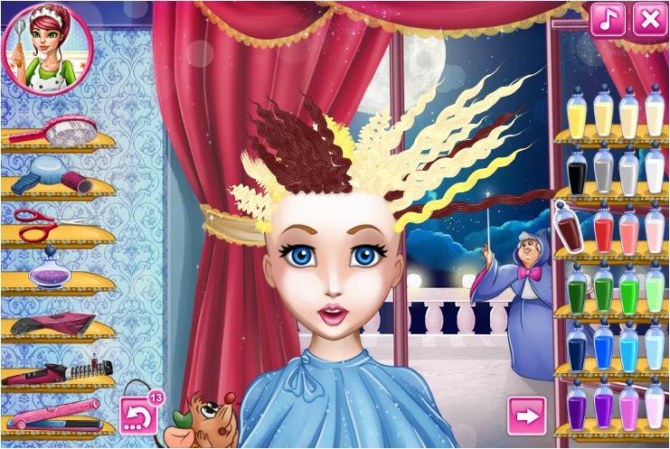 làm tóc cho công chúa