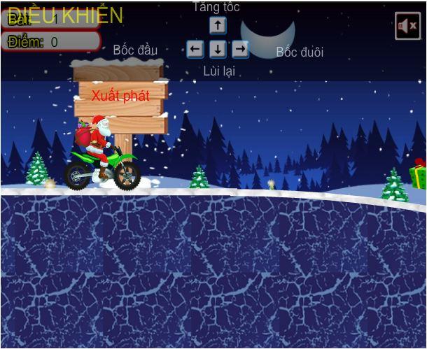 game ông già Noel đua xe