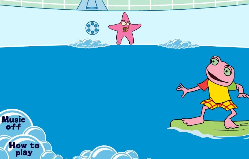 game ếch con lướt ván